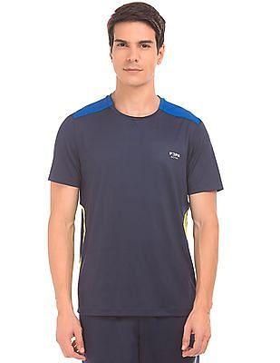 USPA Active Colour Blocked Printed Active T-Shirt