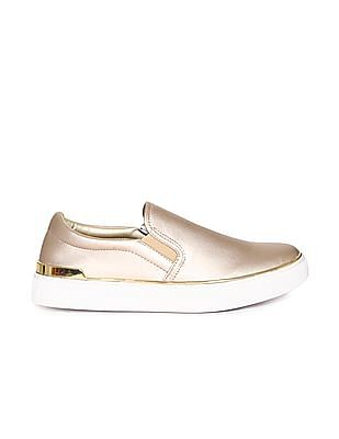 Stride Metallic Slip On Shoes