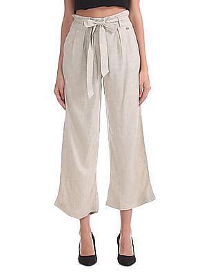 U.S. Polo Assn. Women Belted Linen Culottes