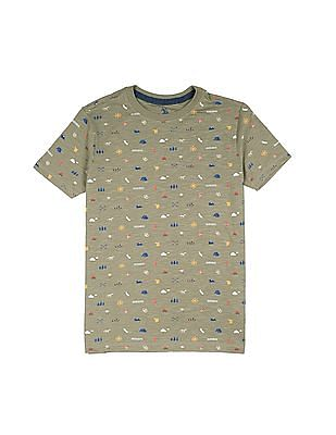 U.S. Polo Assn. Kids Boys Regular Fit Printed T-Shirt