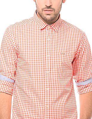 Flying Machine Gingham Regular Fit Shirt