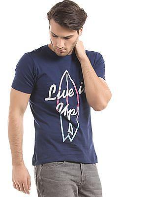 Colt Printed Front Cotton T-Shirt