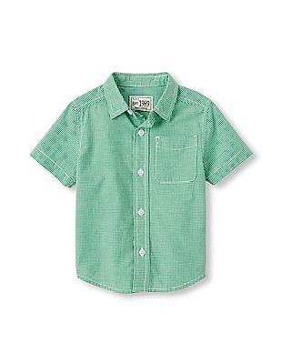 The Children's Place Toddler Boy Short Sleeve Woven Button-Down Shirt