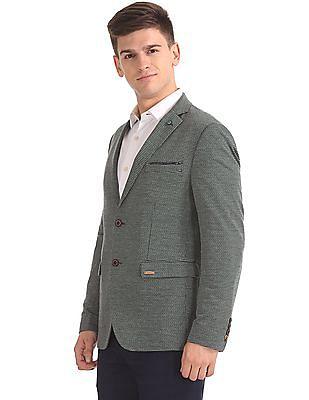 Arrow Sports Slim Fit Patterned Blazer