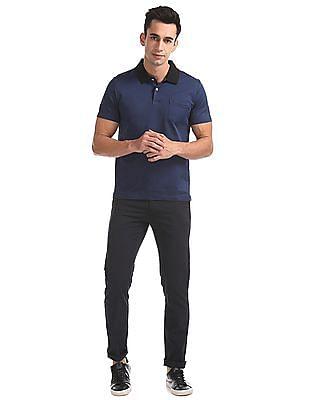Arrow Regular Fit Patterned Knit Polo Shirt