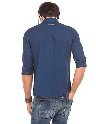 Ed Hardy Solid Slim Fit Denim Shirt