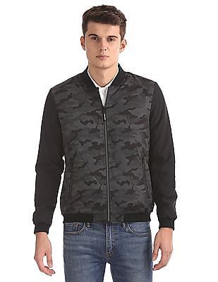 Flying Machine Camo Print Bomber Jacket