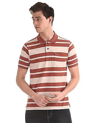 Ruggers Red Patch Pocket Striped Polo Shirt