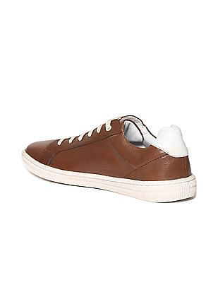 U.S. Polo Assn. Brown Contrast Sole Low Top Sneakers