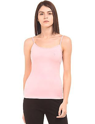U.S. Polo Assn. Women Solid Cotton Stretch Camisole