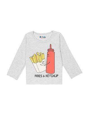 Donuts Girls Printed Front Long Sleeve T-Shirt