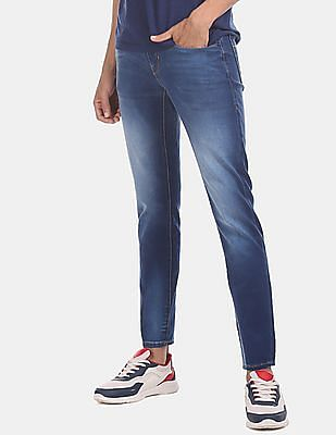 Flying Machine Men Blue Jackson Skinny Fit Low Waist Jeans