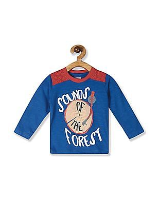 Donuts Blue Boys Crew Neck Graphic T-Shirt