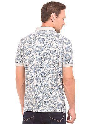 U.S. Polo Assn. Denim Co. Floral Print Muscle Fit Polo Shirt