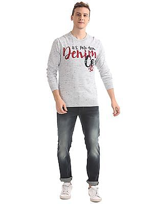 U.S. Polo Assn. Denim Co. Regular Fit Printed Sweater