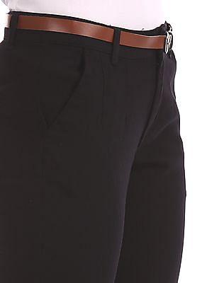 Cherokee Black Solid Regular Fit Trousers