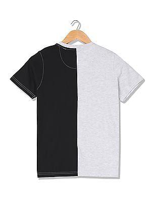 Colt Boys Colour Blocked Printed T-Shirt