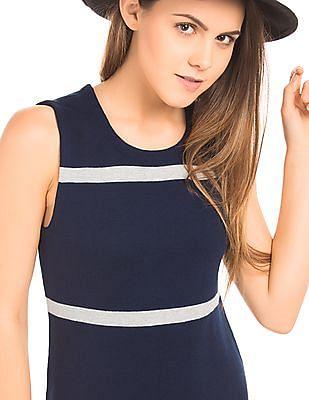 Nautica Striped Classic Fit Sweater Dress