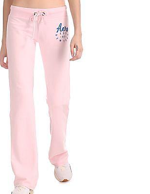 Aeropostale Pink Drawstring Waist Knit Track Pants