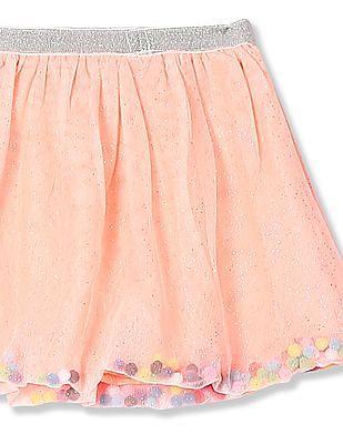 Donuts Girls Mesh Flared Skirt