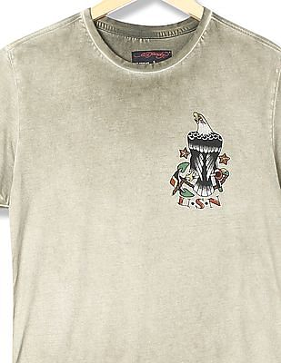 Ed Hardy Crew Neck Washed T-Shirt