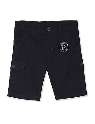Cherokee Boys Mid Rise Solid Shorts