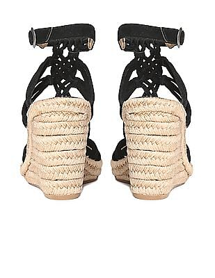 Johnston & Murphy Leather Espadrille Wedges