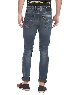 Flying Machine Slim Tapered Fit Stone Washed Jeans