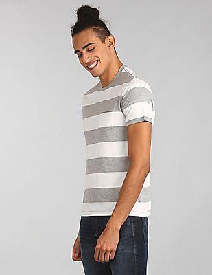 GAP Essential Short Sleeve Rugby Stripe Crew Neck Pocket T-Shirt