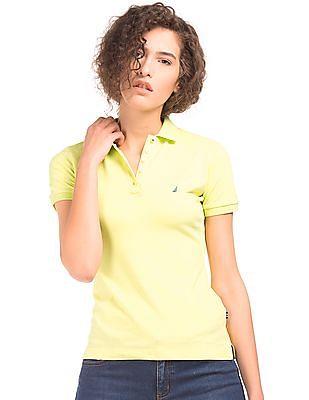 Nautica Pique Solid Polo Shirt