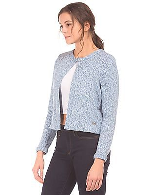 Elle Panelled Jacquard Jacket