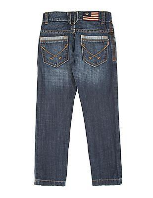 U.S. Polo Assn. Kids Boys Regular Fit Distressed Jeans