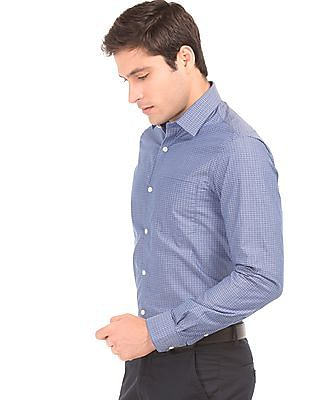 Arrow Jacquard French Placket Shirt