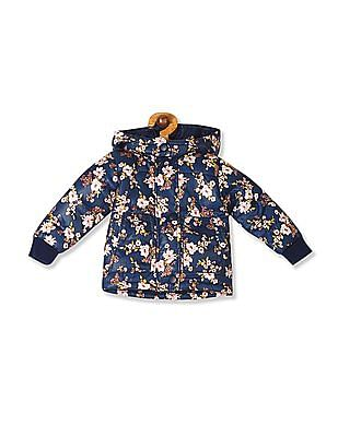 Donuts Girls Detachable Hood Quilted Jacket