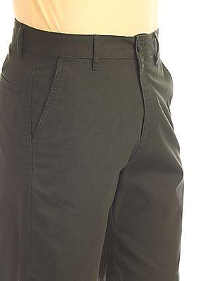 Ruggers Green Mid Waist Woven Shorts