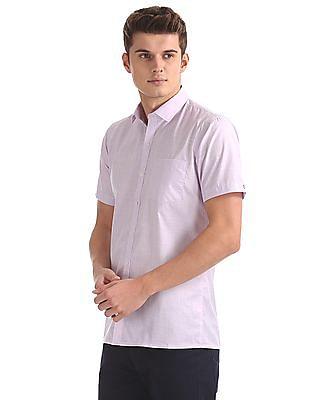 Excalibur Patterned Weave Short Sleeve Shirt