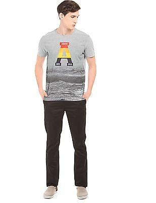 Arrow Sports Printed Regular Fit T-Shirt