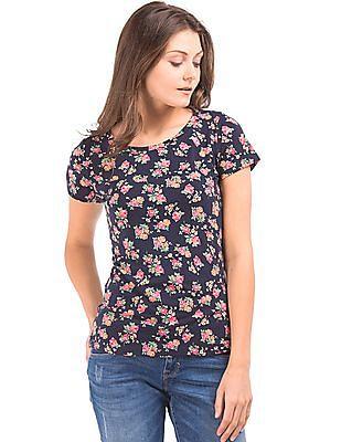 U.S. Polo Assn. Women Regular Fit Floral Print Top