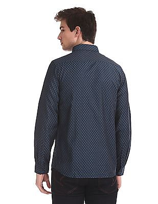 Excalibur Long Sleeve Patterned Weave Shirt