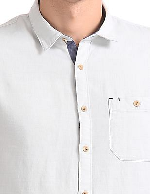 Cherokee Contemporary Fit Patterned Weave Shirt