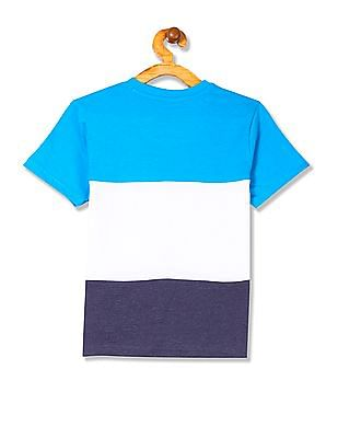 Cherokee Boys Striped Henley Neck T-Shirt