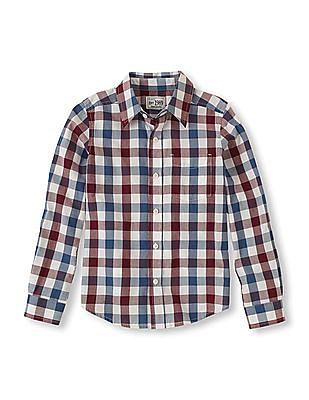 The Children's Place Boys Long Sleeve Check Shirt