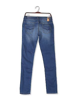 Flying Machine Women Super Skinny Fit Whiskered Jeans