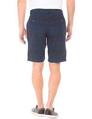 Cherokee Striped Cotton Linen Shorts