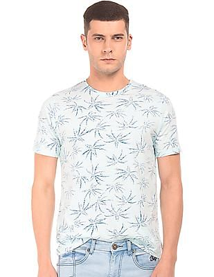 Cherokee Inverted Palm Tree Print T-Shirt