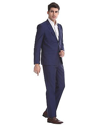 Arrow Blue Body Tailored Regular Fit Solid Suit
