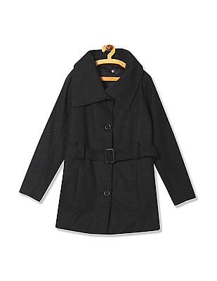 Arrow Woman Belted Tweed Trench Coat