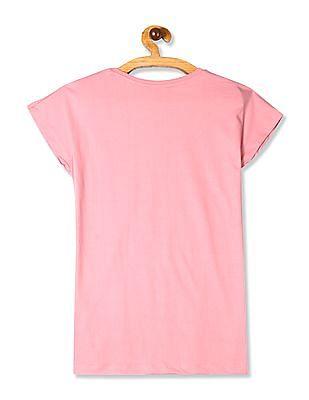 SUGR Pink Patch Pocket Panda Graphic T-Shirt