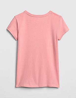 GAP Girls Metallic Graphic Short Sleeve T-Shirt