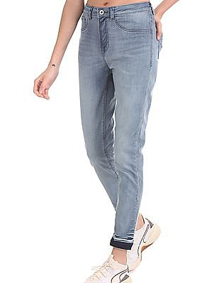 U.S. Polo Assn. Women Blue High Rise Washed Jeggings